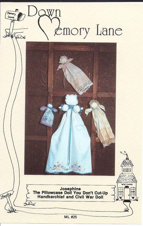 hankerchief dolls | Pillowcase and Handkerchief Doll Pattern by keenestuff on Etsy
