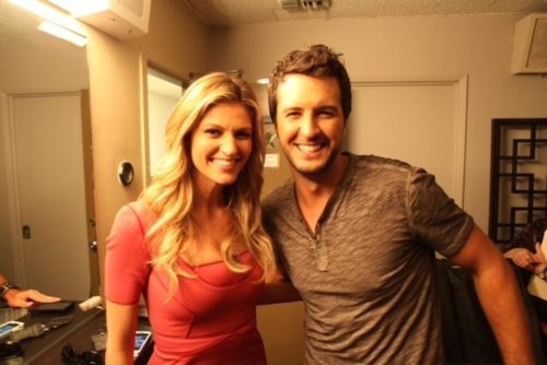 Erin Andrews and Luke Bryan in one picture. Too much, too much.