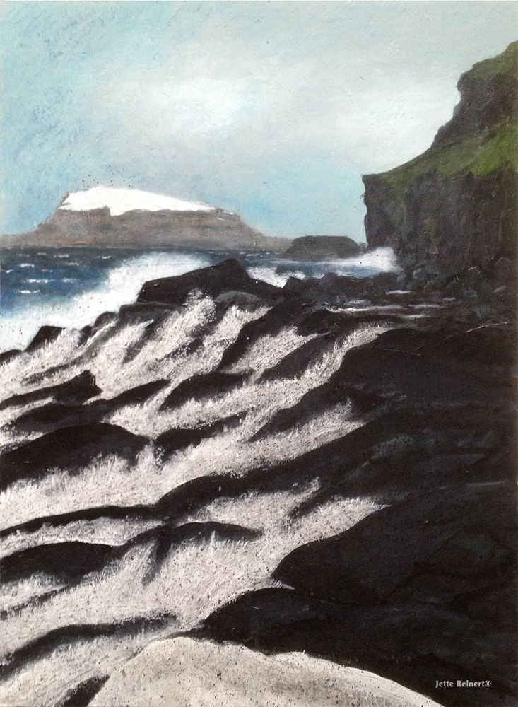 Hvítanes, The Faro Islands 60x80cm Acrylic on chip board