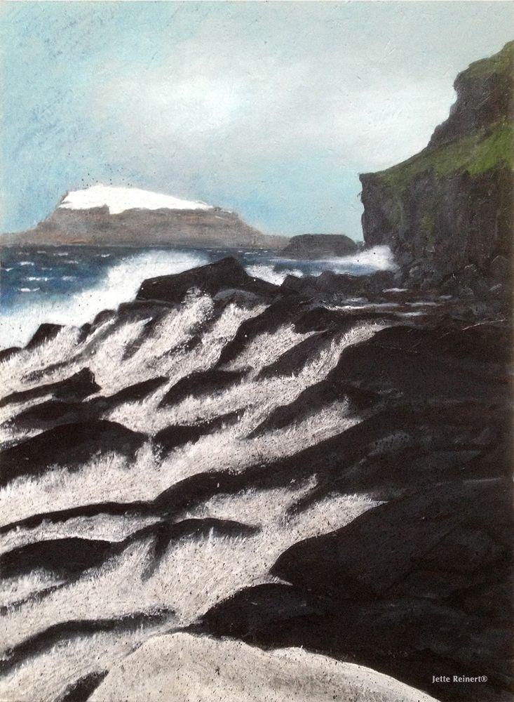 Hvítanes, The Faro Islands 60x80cm Acrylic on chip board