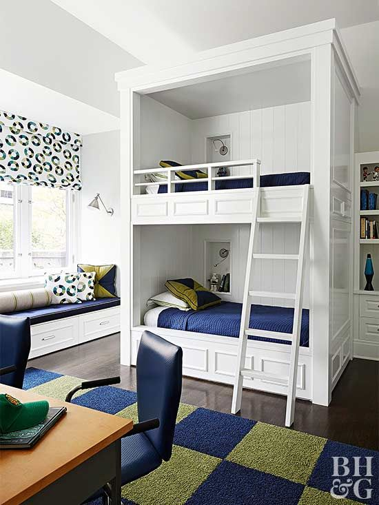 We have small room design ideas for small boys and girls' rooms, shared spaces, and more.