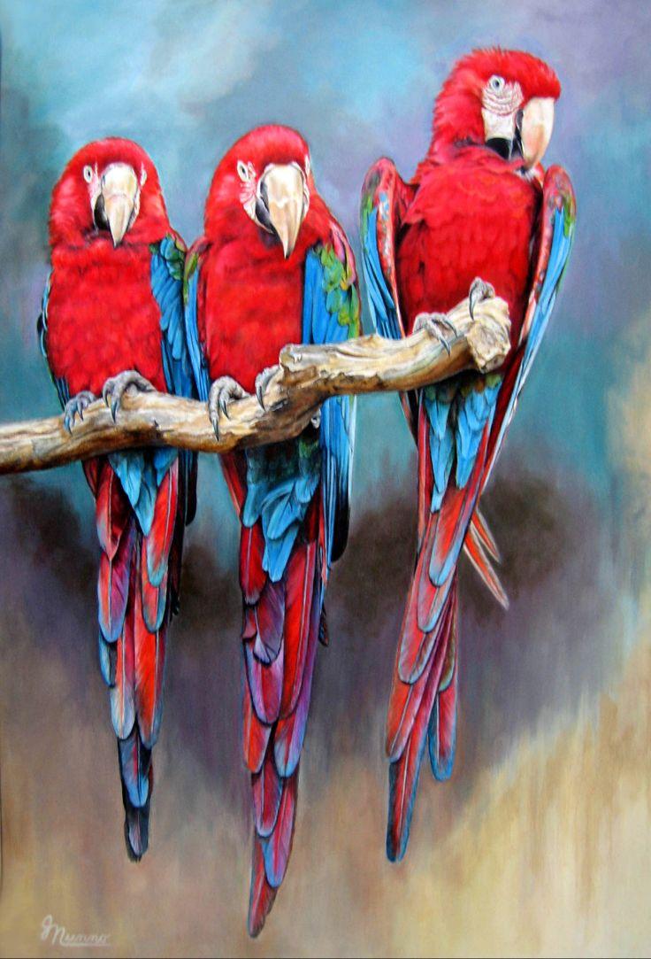 """Современная живопись - """"Three Amigos"""" (оригинальную художественную от Джуди Nunno)"""