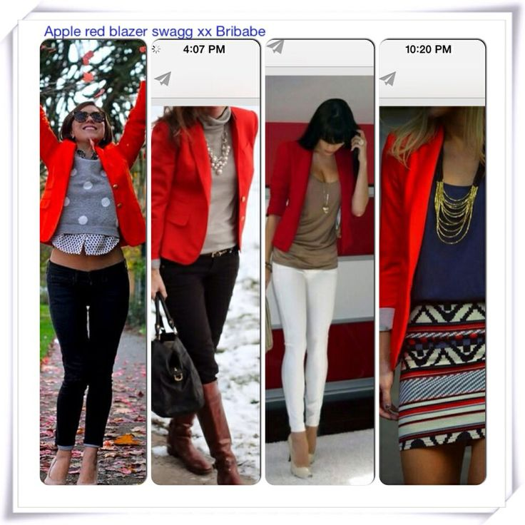 Summer RED blazer outfits