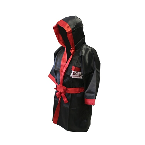 Amatuer Regular Boxing Robe-Black-Large  -  $49.00