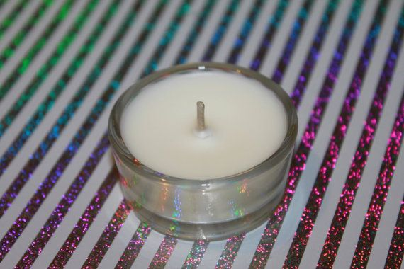 Scented Reusable Glass Hand Poured Natural Soy Wax Tealight on Etsy, $2.00 AUD