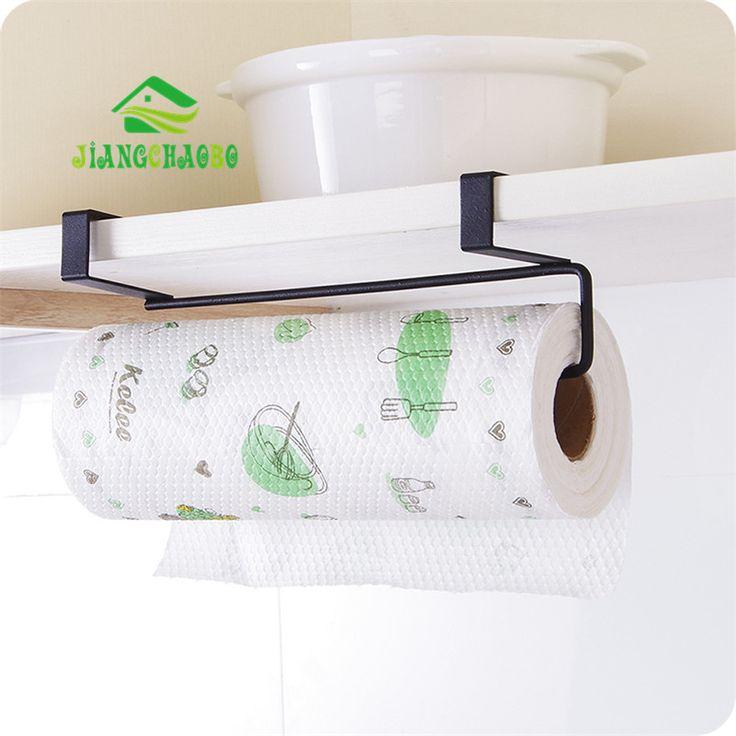 Besi Dapur Tisu Pemegang Menggantung Mandi Toilet Roll Pemegang Kertas Rak Handuk Dapur Pintu Lemari Kait Pemegang