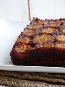 Chic, chic, chocolat...: Gâteau renversé au chocolat et aux bananes