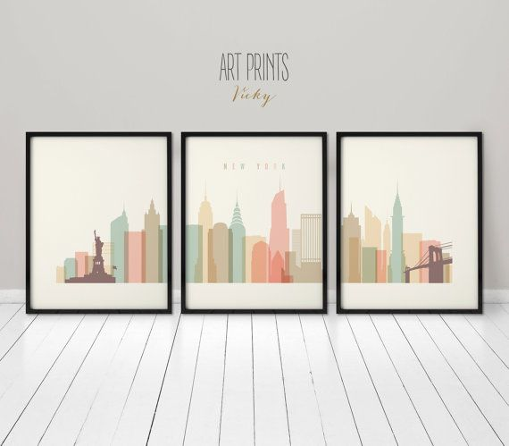 Wall Art Posters 177 best city skylines in pastel images on pinterest | city