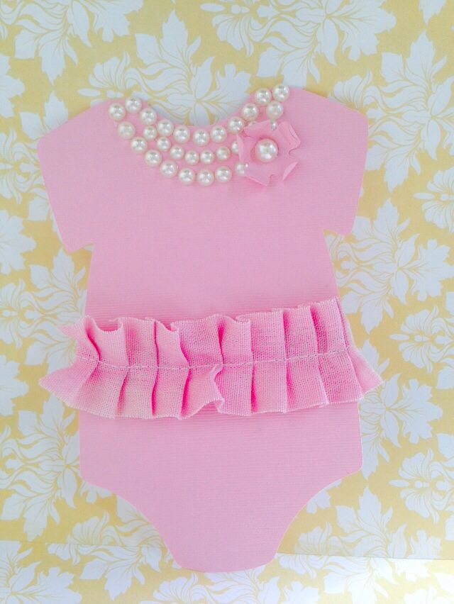 Pink with Pearls onesie and skirt invitation.