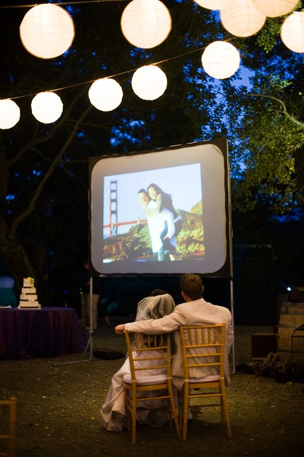 An outdoor projector - lovely.