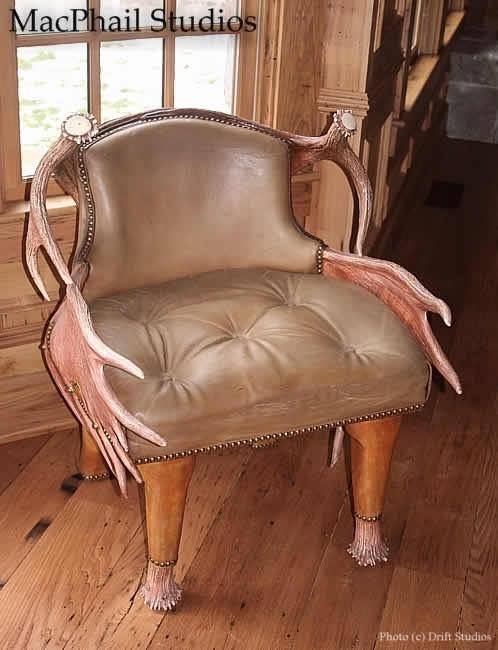 MacPhail Studio Low Back Moose Chair My Guys Man Cave