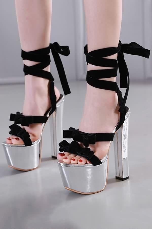 Platform Open Toe Chunky Heel Sandals