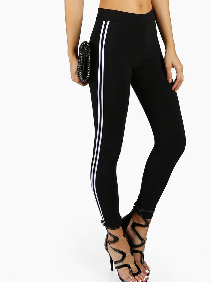 Shop Side Striped Trainer Leggings online. SheIn offers Side Striped Trainer Leggings & more to fit your fashionable needs.