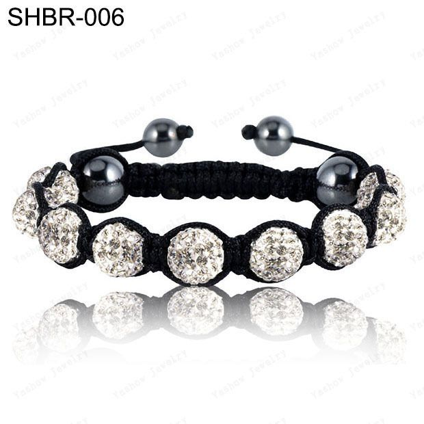 Crystal Jewelry Bracelet For Women New Crystal Bracelets Micro Pave CZ Disco Ball 10mm Bead Crystal Bracelet Free Shipping