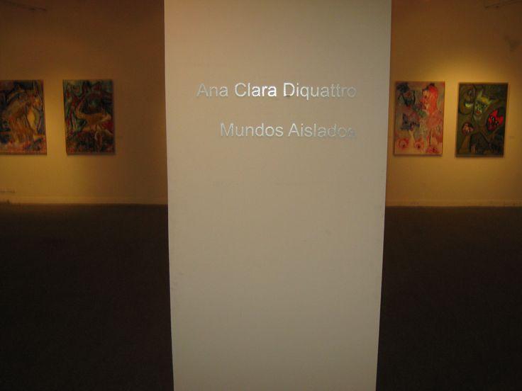 """MUNDOS AISLADOS"" ANA CLARA DIQUATTRO MUSEO CONTEMPORÁNEO RAÚL LOZZA."