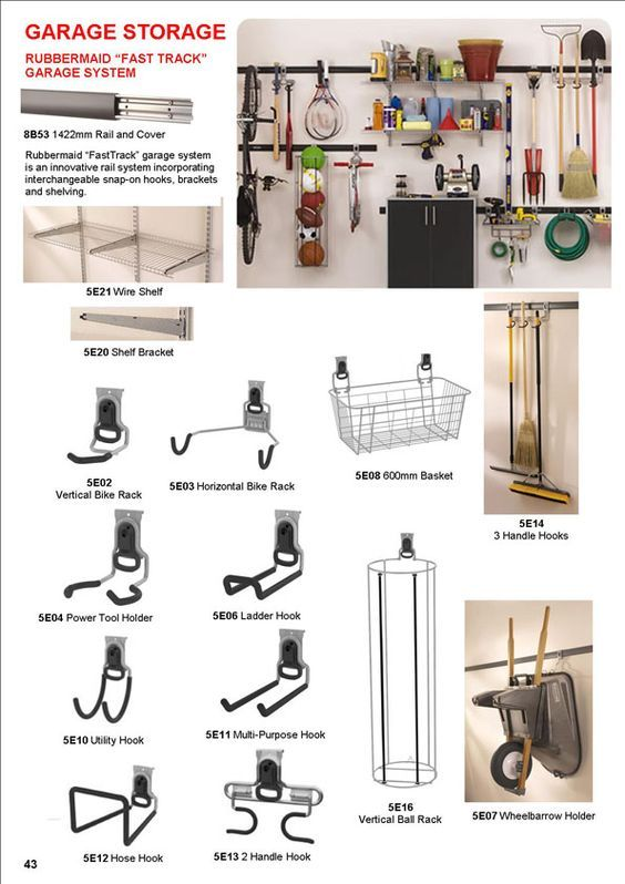 Garage Storage, Rubbermaid, Fast Track system, wire shelf, wire shelves, brackets, bike racks, wheelbarrow