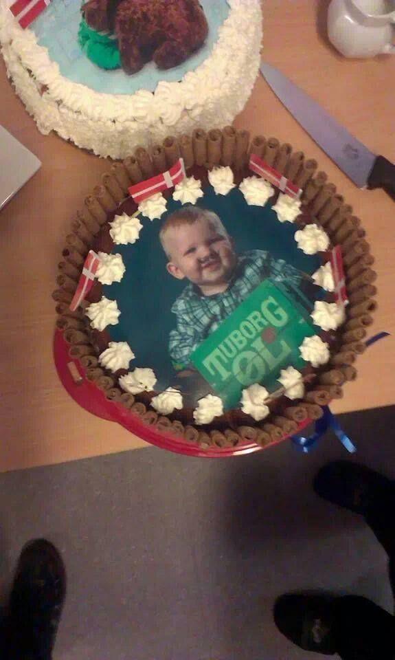 Kage til Malthes 1 års fødselsdag