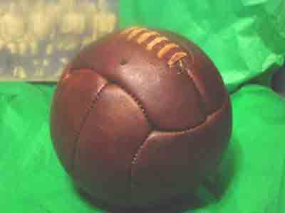 Antique soccer ball circa 1920s   World Cup or favorite College