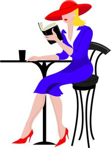 women clip art free | Reading Clipart Image: Clip Art Of A Business Woman Sitting At A ...