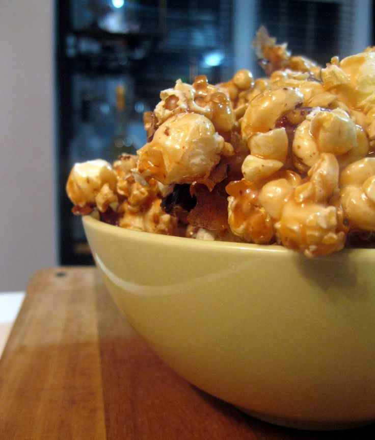 Caramel Popcorn with a spicy salty kick!