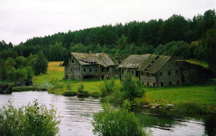 Pegrema, Karelia old houses
