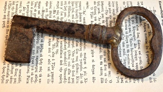 Handmade Venetian vintage antique large key made by LeFuCycliste