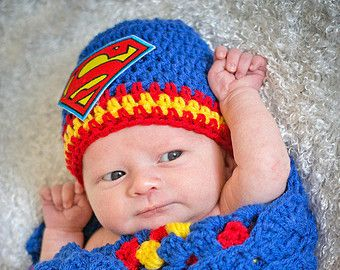 Free Superman Crochet Hat Pattern | ... prop baby newborn child hat superman symbol crochet children's
