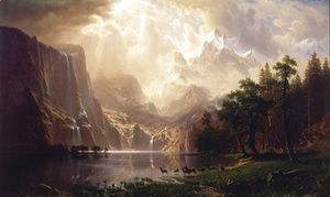 Among The Sierra Nevada Mountains California  Albert Bierstadt