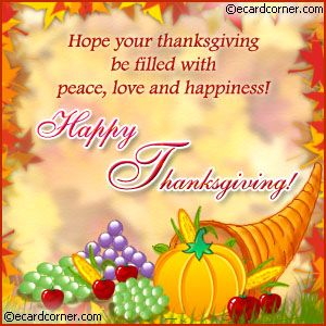 happy thanksgiving wishes | Send this beautifully decorated Happy Thanksgiving Greetings card to ...