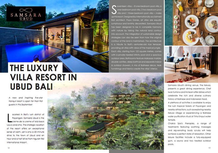 """The Luxury Villa Resort in Ubud Bali""  Thank you Asia World Indonesia for including Samsara Ubud on the September edition of your news bulletin magazine. Read online: https://issuu.com/asiaworldindonesia/docs/awi_magazine-sep  #samsaraubud #asiaworldindonesia #ubud #bali #luxuryvilla #islandlife #wanderlust #sanctuary #globetrotter #resort #areyoureadytowander #samsarasenses #love"