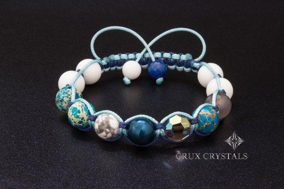 Women's Shamballa Bracelet with Swarovski Elements por CruxCrystals