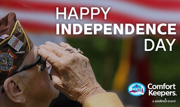 Be safe and have a happy Independence Day from all of us here at Comfort Keepers!  #IndependenceDay #ComfortKeepers #July4th #4thofJuly