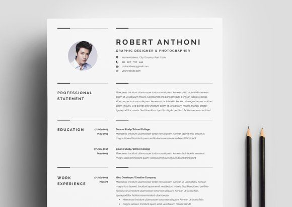 Creative Resume Template 3 Pages by Whitegraphic on - creative resume objectives