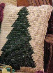 Here's an innovative way to crochet Christmas tree patterns. This throw pillow is a great decoration for the Holiday season. Every household needs a Christmas Tree Pillow for those nights in front of the fire.