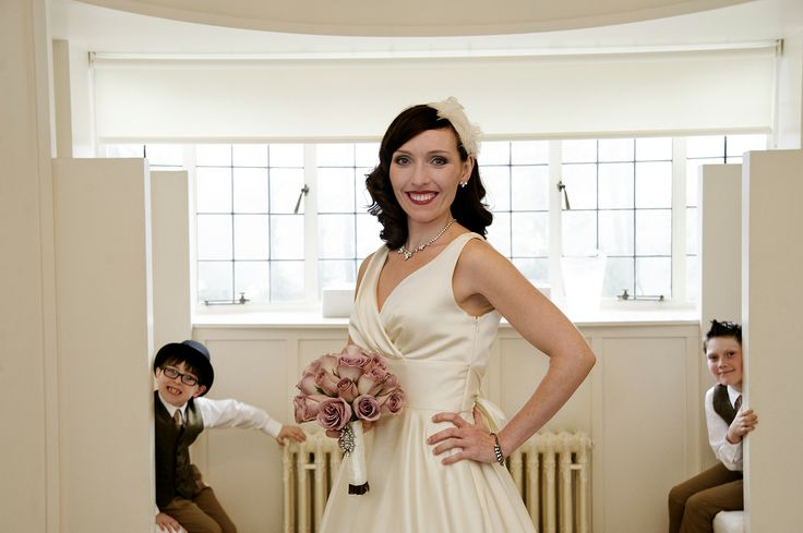 The Bride with Page Boys in Glasgow's House for an Art Lover.