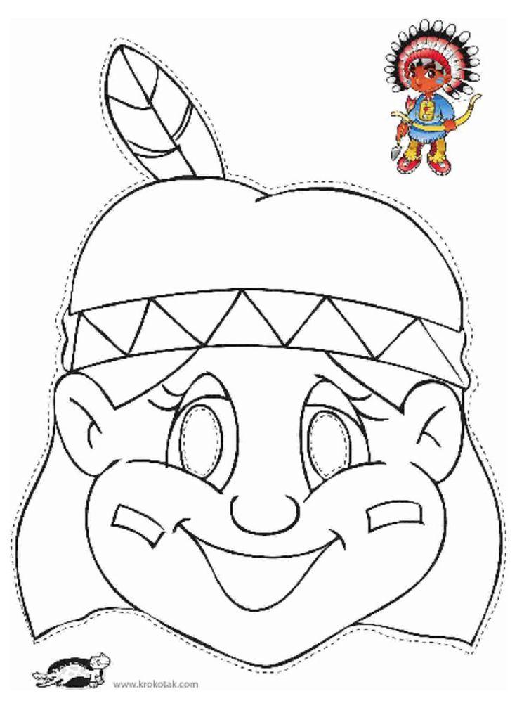 Native American Female Cut & Color Mask