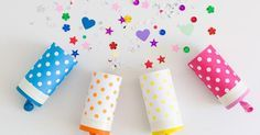 Cómo hacer pequeños cañones de confeti para cumpleaños