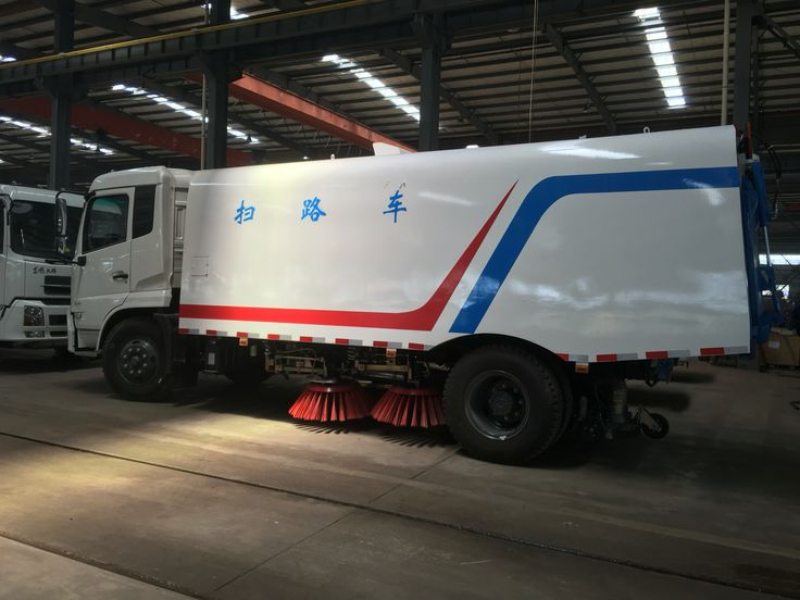 6000liters vacuum road sweeper truck