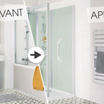 Les 25 meilleures id es de la cat gorie remplacer - Remplacer baignoire par douche ...