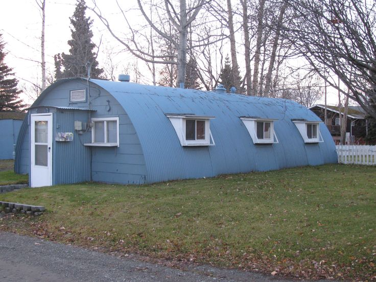 A Quonset hut.The name comes from their site of first manufacture, Quonset Point, at the Davisville Naval Construction Battalion Center in Davisville (a village located within the town of North Kingstown, Rhode Island, USA).    #VisitRhodeIsland
