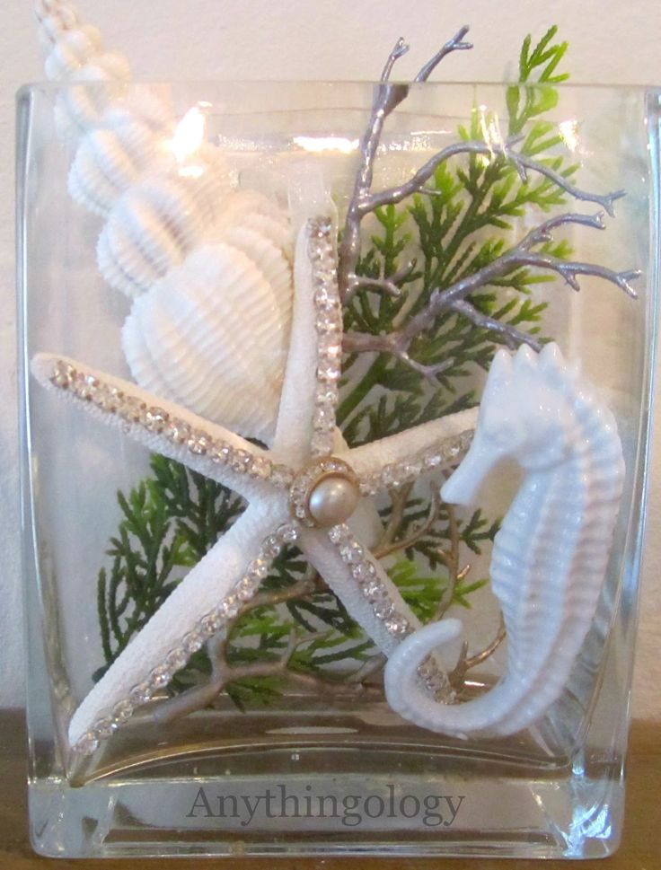 Cute Collection in a vase - I'm always looking for easy decorating ideas, plus I love the beach.