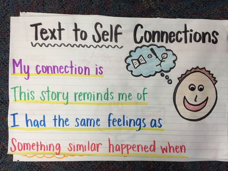 Text to self connections anchor chart!