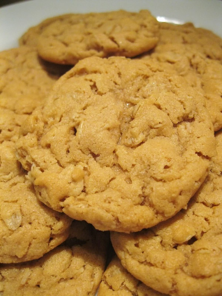 Peanut Butter Oatmeal Cookies. I will admit that I added a cup of milk ...