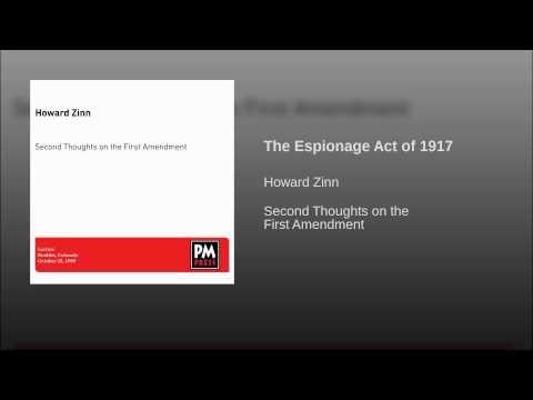 The Espionage Act of 1917
