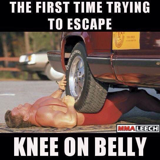 EVERY time trying to escape Knee on belly.
