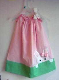 CUTE little girl's pillow dress for Easter time!