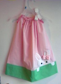 CUTE little girl's pillow dress for Easter time!