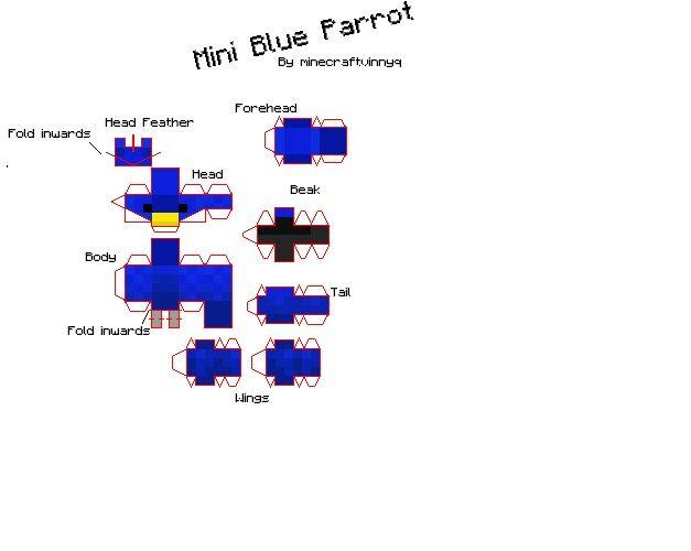 Parrot   Minecraft Papercraft   Paper Crafts, Minecraft