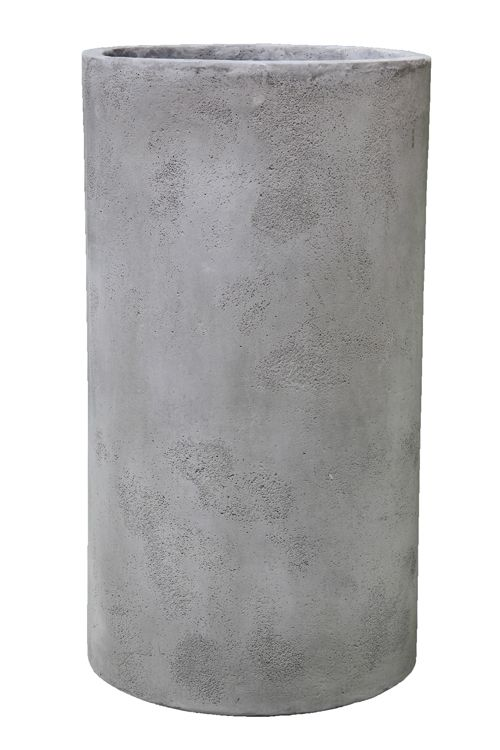 Provincial Cement Grey Tall Cylinder D56cm
