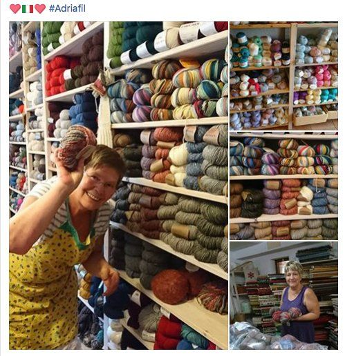 In the middle of summer, there are those who think of your winter. #Adriafil and Maison Creative😍  Choose your yarns: http://bit.ly/AdriafilYarns